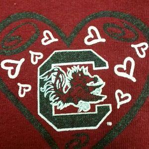 Gildan Tops - Carolina Gamecocks Womens Football T-shirt